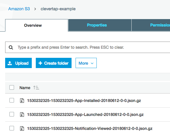 Data Export to AWS S3