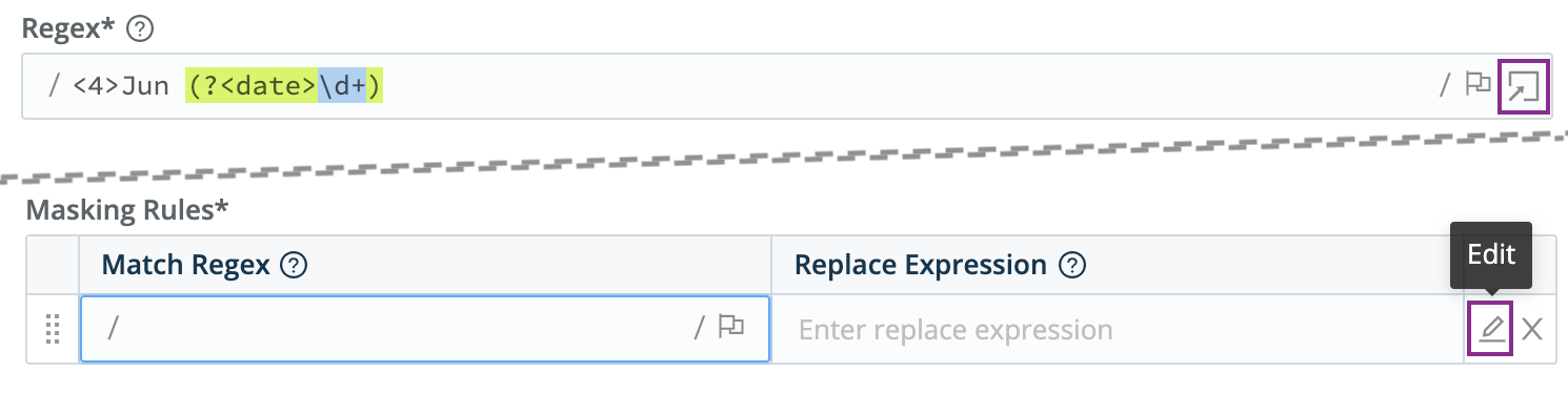 Opening a Regex modal
