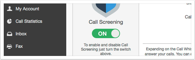 Turn Call Screening on