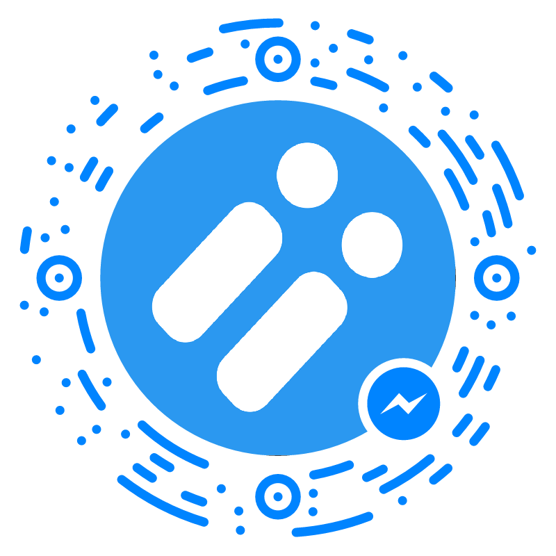 Scan this with the Messenger app to start a conversation
