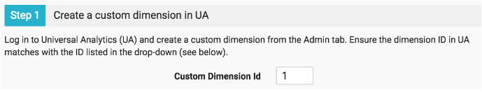 Create Custom Dimension in UA