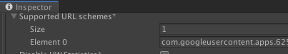 """The """"Supported URL Schemes"""" in the Unity Inspector Window"""