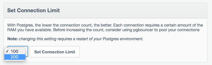 PostgreSQL Connection Limits