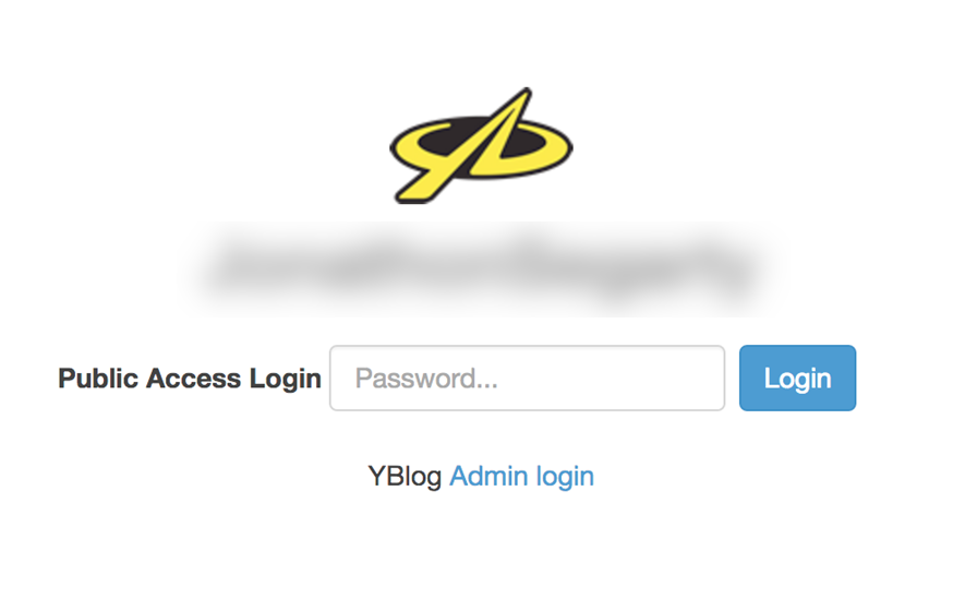 YBlog (Password Protected)