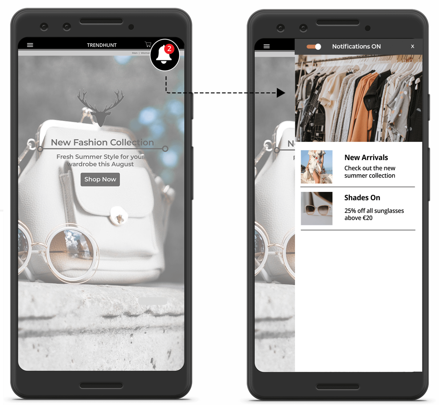 Example of the inbox integrated in an Android app.