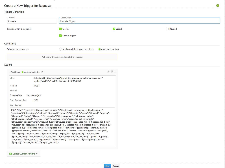 ManageEngine ServiceDesk Plus Integration