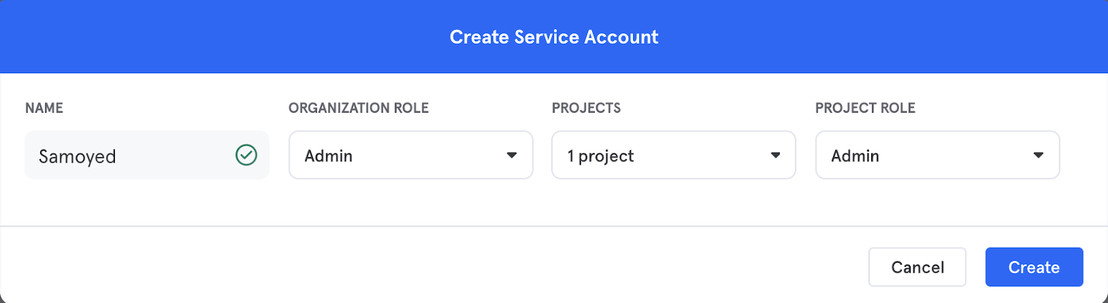 Settings for Service Accounts for Cloud Import