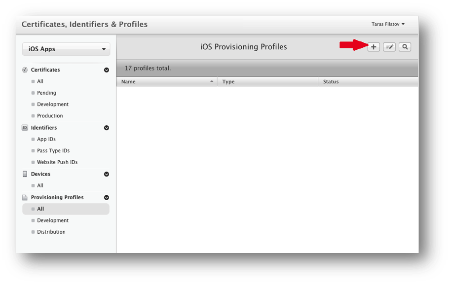 Creating a new provision profile