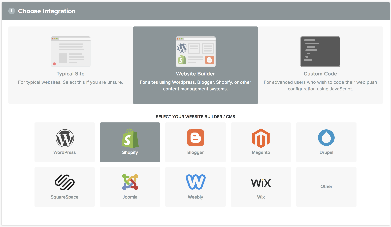 OneSignal Push Notification Service Documentation - Shopify custom page template