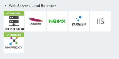 Web Server / Load balancer section in the integration page
