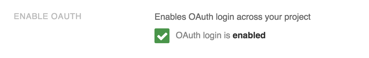 Setting up Github OAuth 2 0