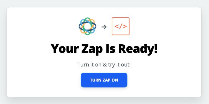 Turn Zap on screen