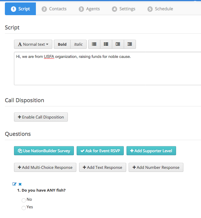 How to setup a collective calling campaign