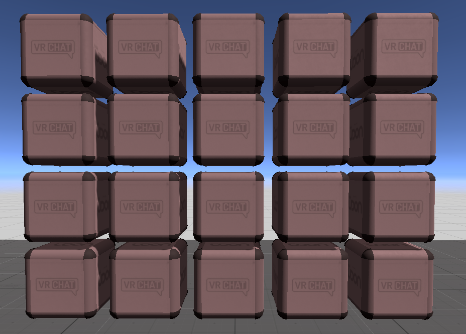 These cubes will never be this neat again once they start dropping and bouncing around.
