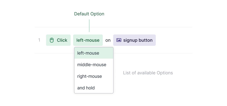A list of Click options.