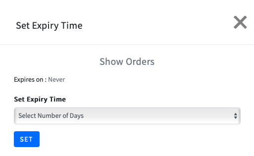 Set Expiry Time