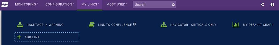 My Links Navigation Menu Screenshot