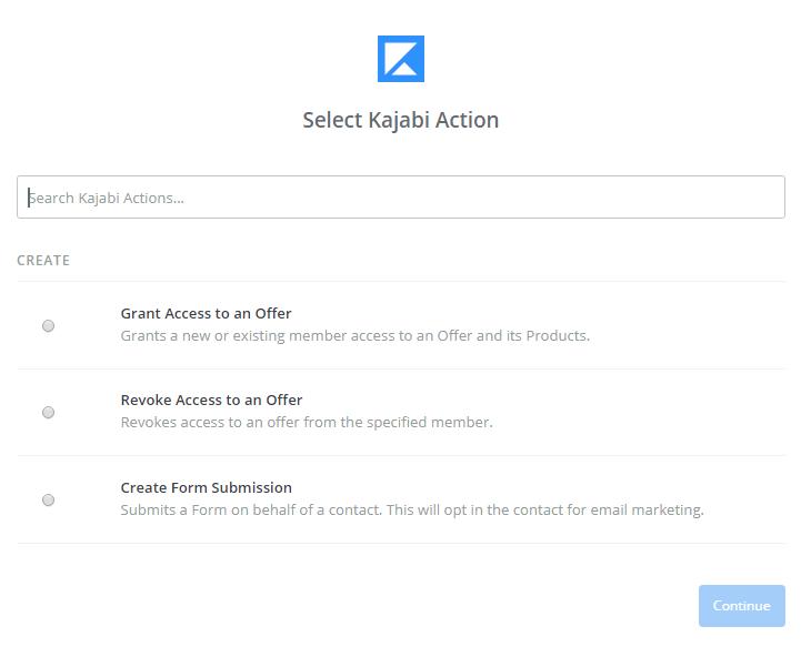 Kajabi And Outgrow Integration using Zapier