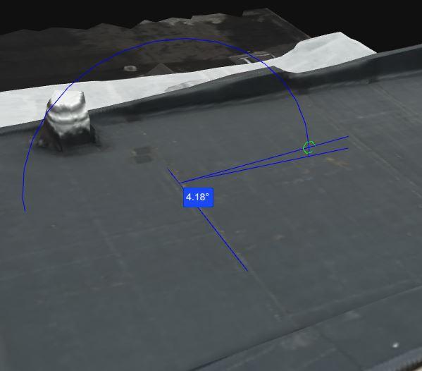 Tilt angle value.
