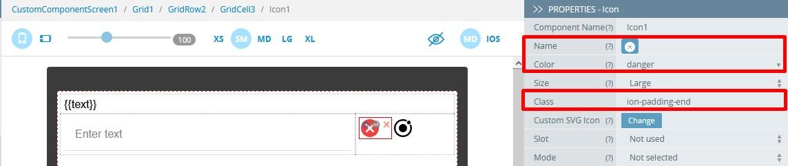 **Close** icon