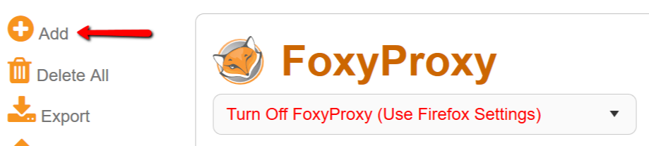 Foxyproxy add new proxy on Firefox