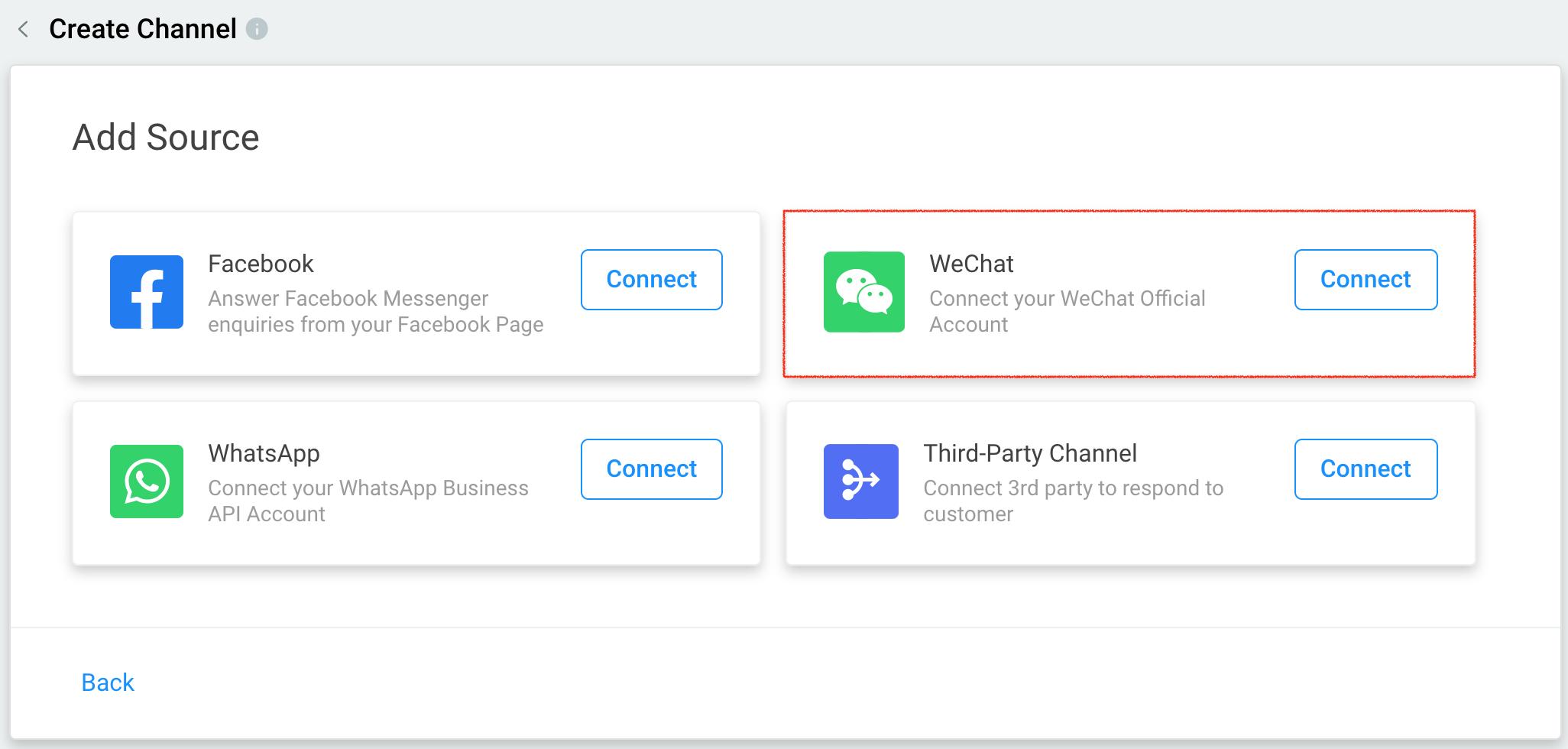 Connect WeChat