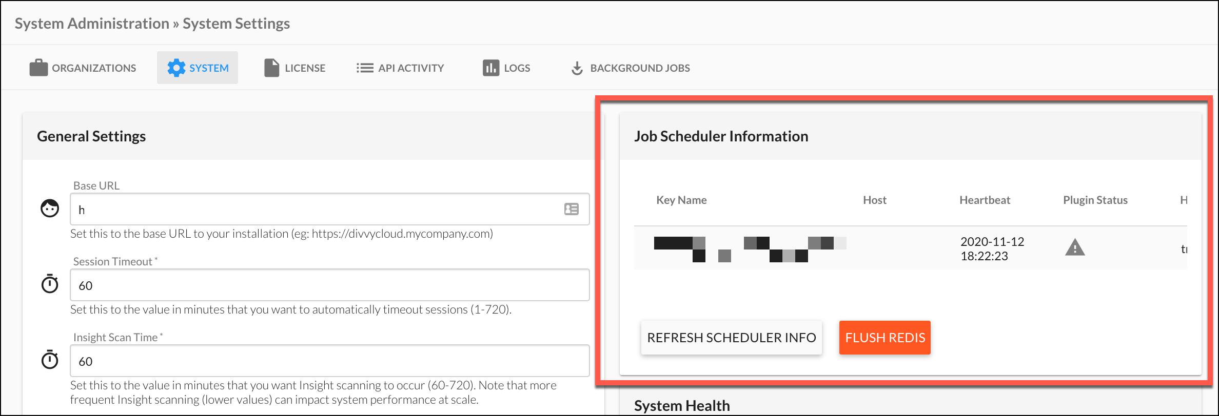 System - Job Scheduler Information
