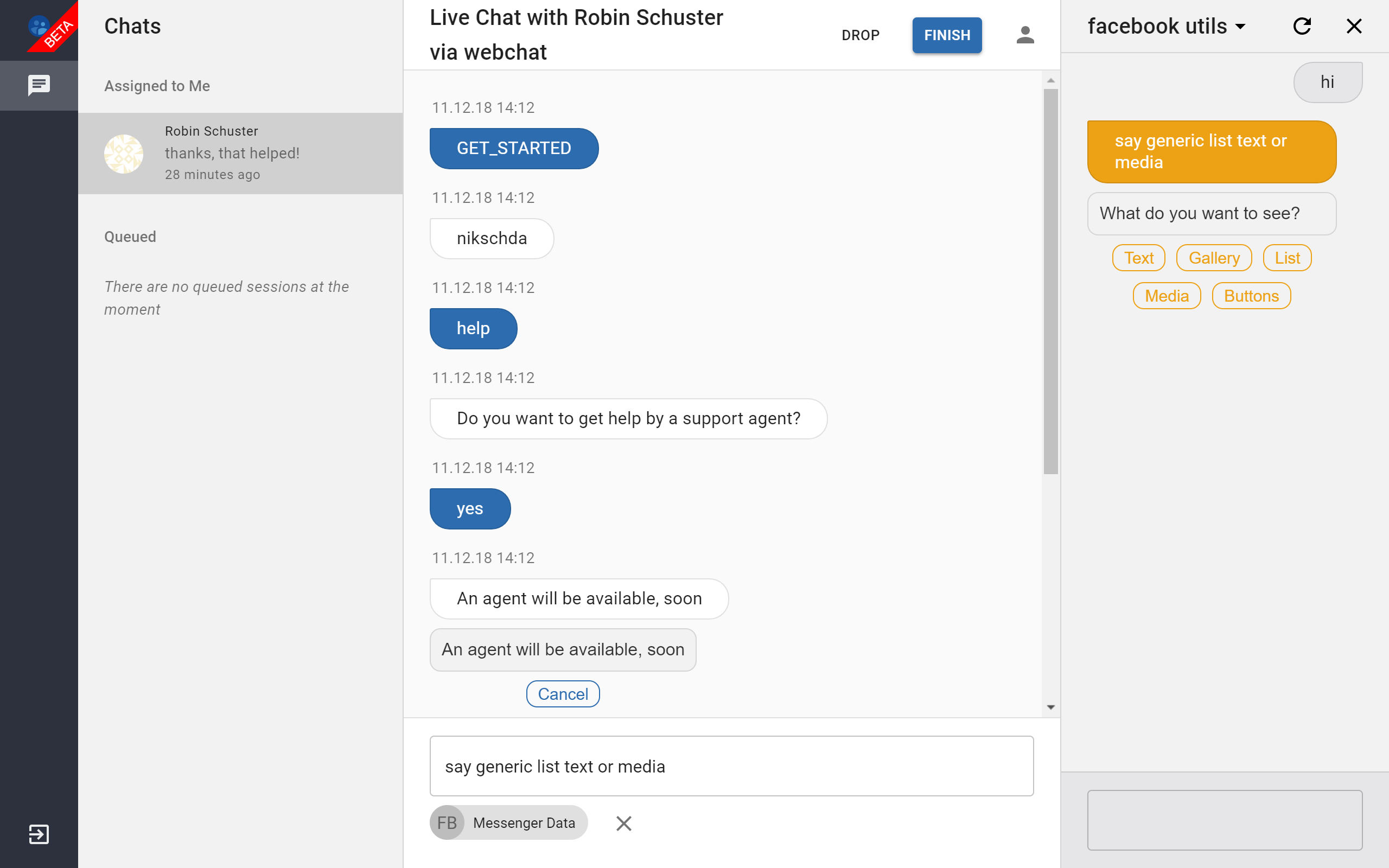 Using the Live Chat UI