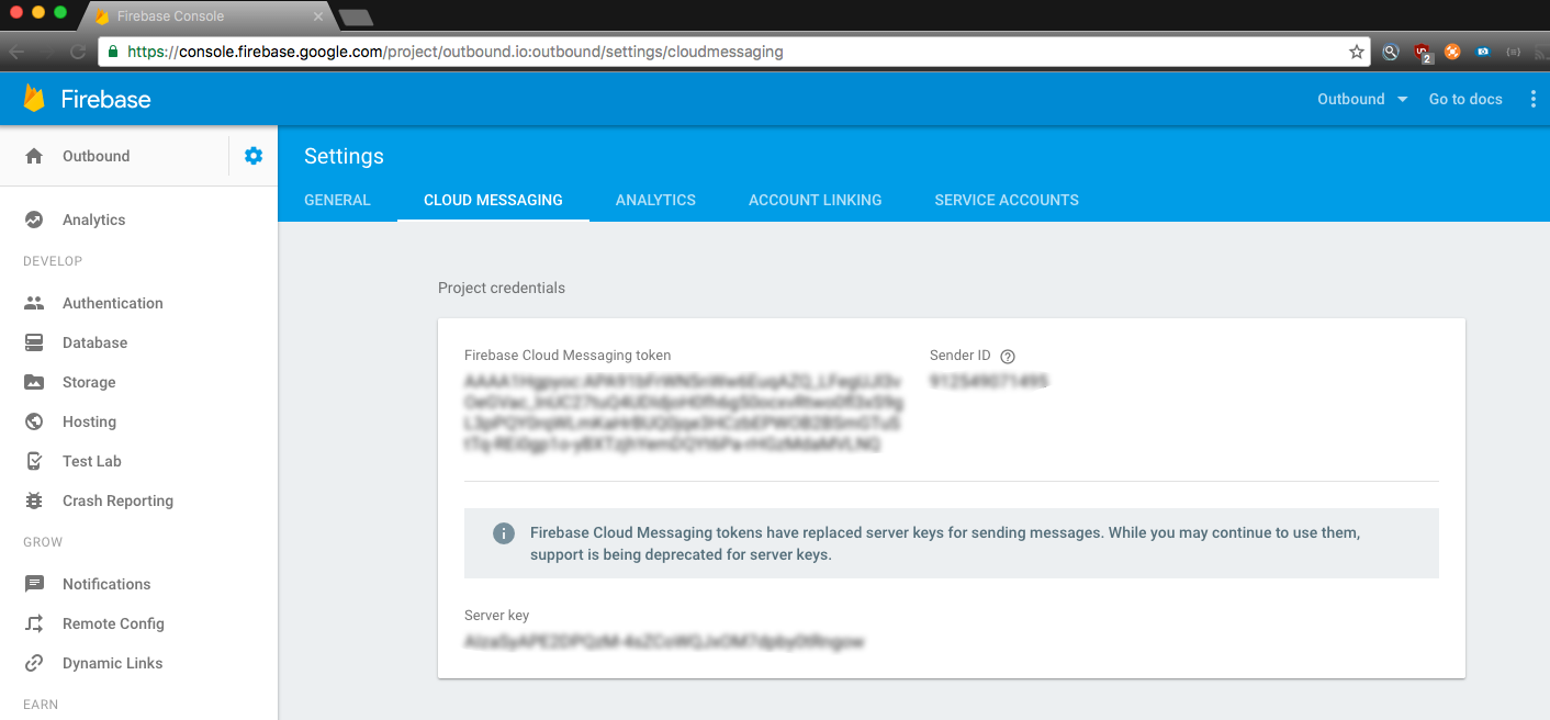 Firebase Cloud Messaging (Android) · Outbound