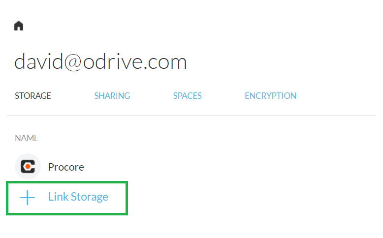 Click on the **+ Link Storage** option in your odrive home to add more storage accounts.