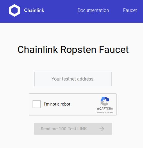 Acquire testnet LINK