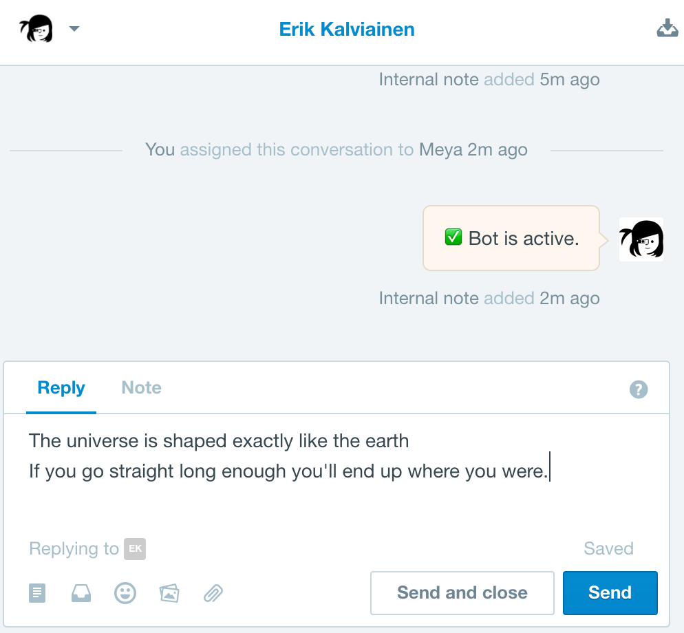 Agent's can respond to any messaging channel.