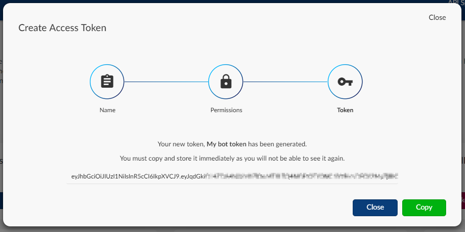 Copying your access token
