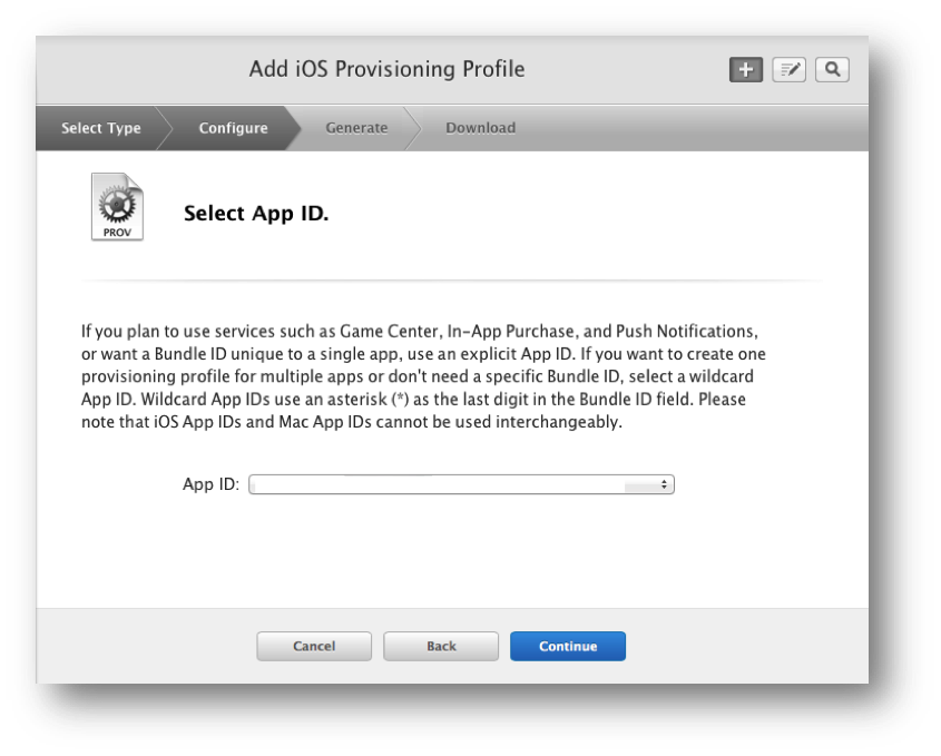 Enter your App ID