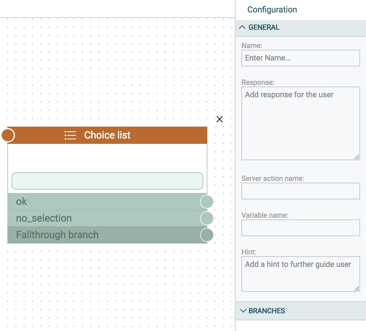 Dialog Manager Action Elements