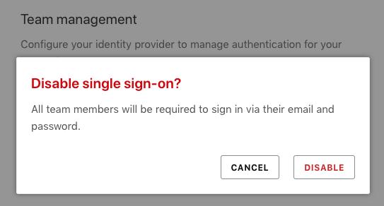 Enabling single sign-on
