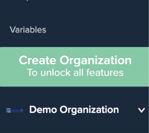 Create First Organization Dialog