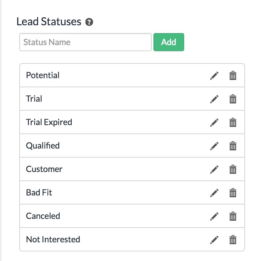 Lead Statuses