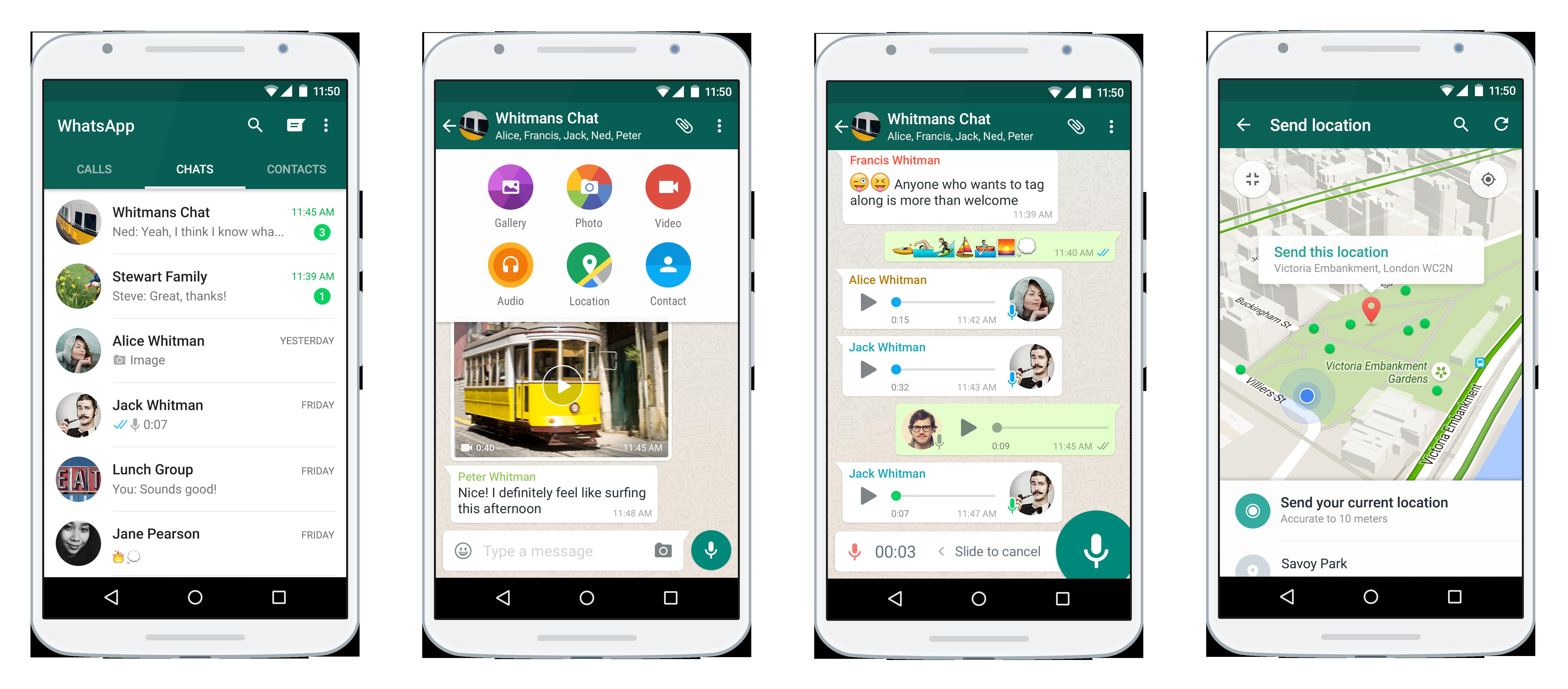 WhatsApp rich messaging