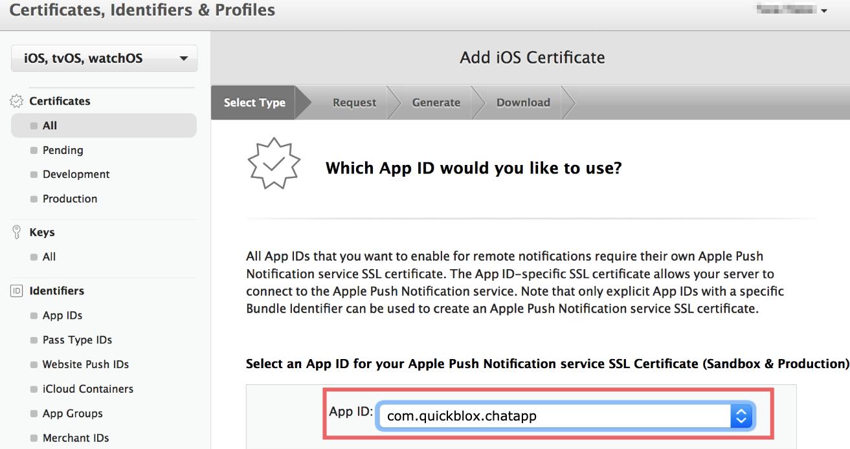 create universal apns sertificate for ios app, step three