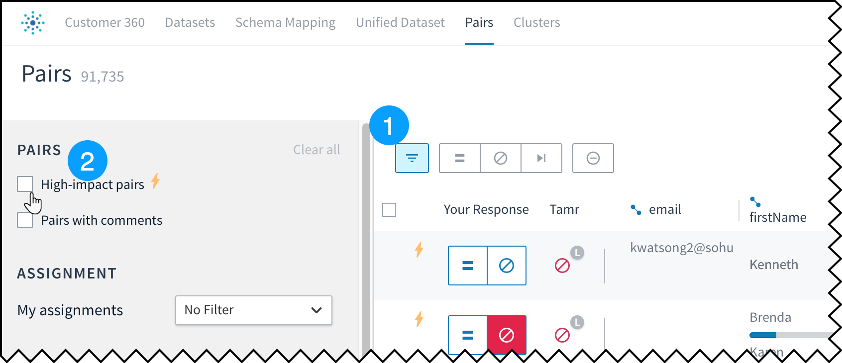 Filtering to high-impact pairs helps you prioritize your work.