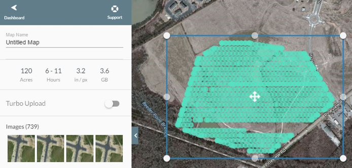 Beginning upload in the field will alert you if there are missing sections as evidenced above.