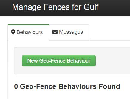 Define new geofence behaviour