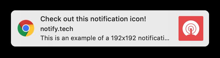 Web Push Notification Icons & Images