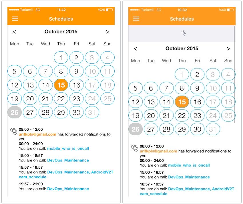 Opsgenie for BlackBerry Dynamics - Schedules