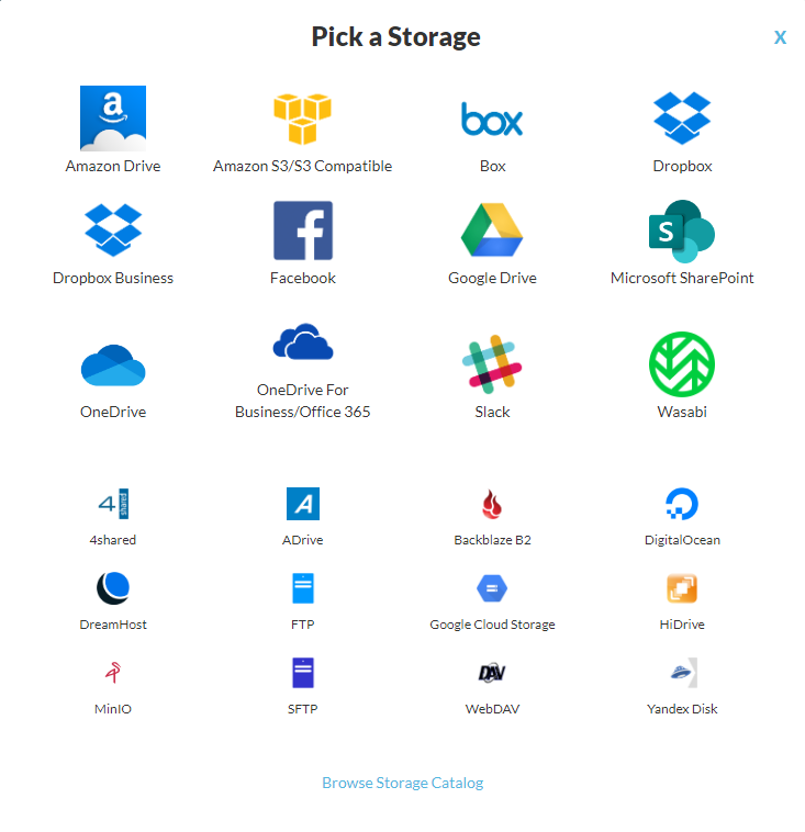 Link as many storage accounts as you like, including multiple accounts of the same type!