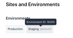 Looking up your environment ID.