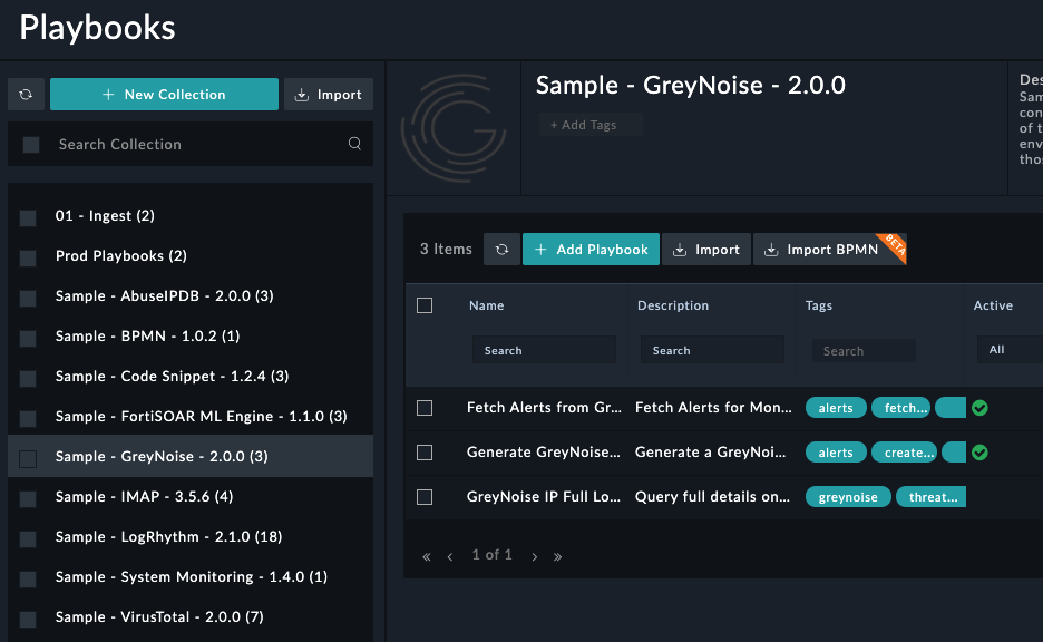 Accessing the GreyNoise sample enrichment workflow