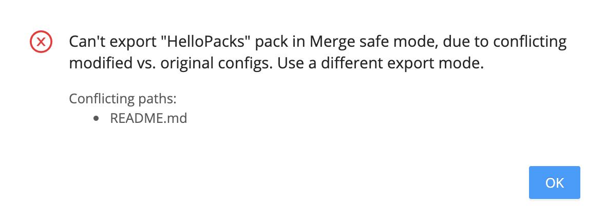 **Merge safe** error