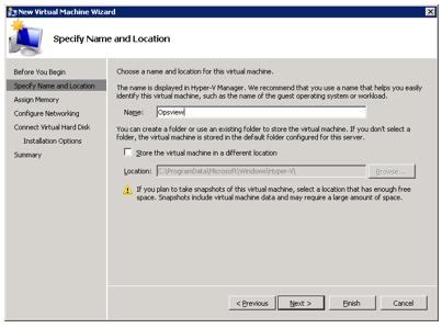 Microsoft Hyper-V Virtual Appliance